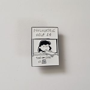🐢2/$15 Peanuts Lucy's Psychiatry Booth Pin